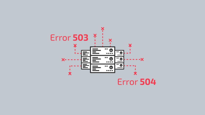 errores 503 y 504