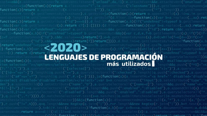 lenguajes de programación más populares en 2020