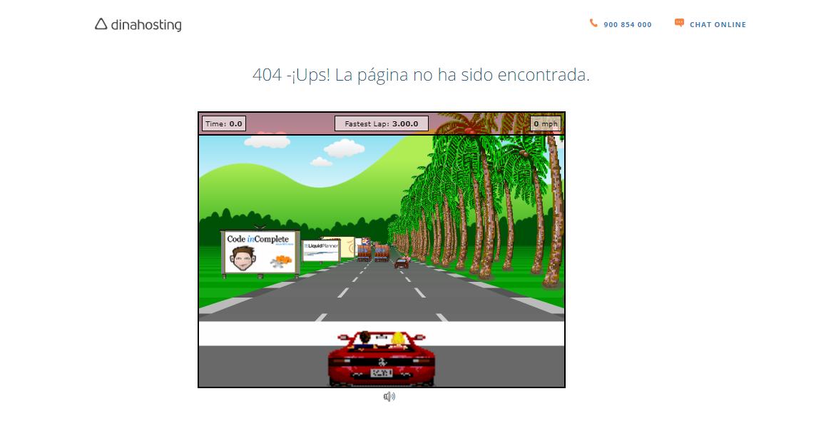 Página de error 404 de dinahosting
