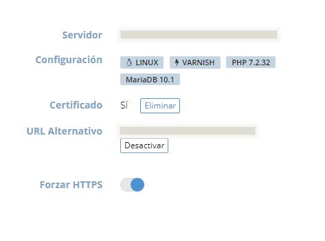 Panel dinahosting certificado SSL