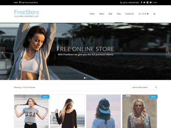 Tema para WooCommerce FreeStore