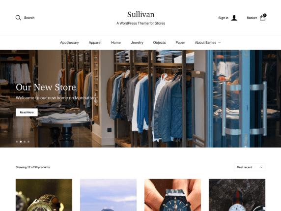 Tema gratis para WooCommerce Sullivan
