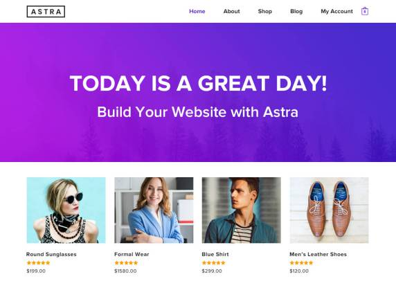 Tema Astra WordPress plantillas gratis