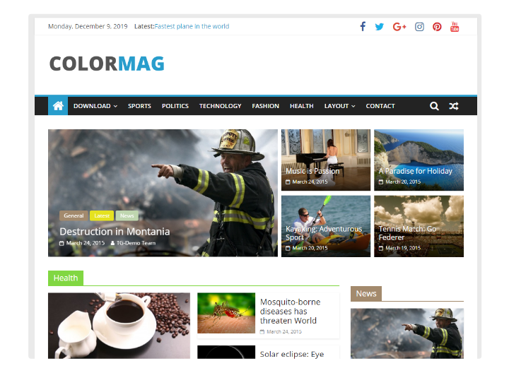 ColorMag Plantilla WordPress