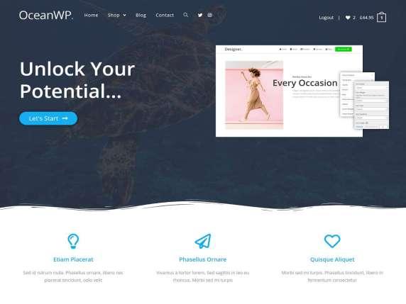 Tema OceanWP WordPress, plantillas gratis