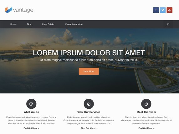 Plantilla Vantage WordPress