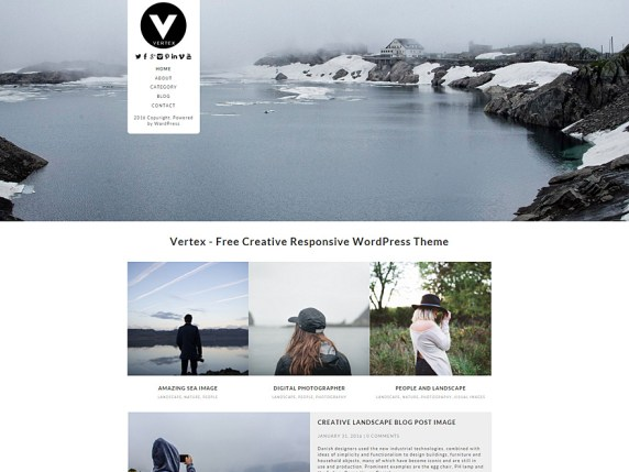 Plantilla Vertex WordPress