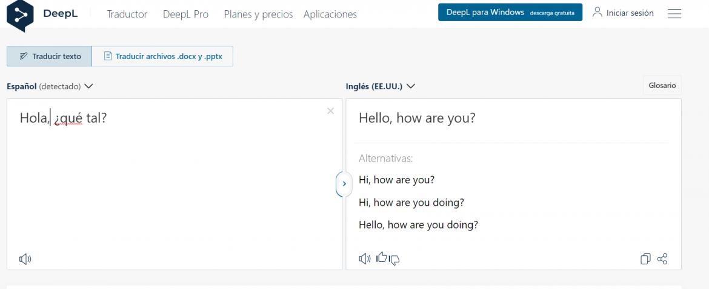 traductores online gratuitos DeepL