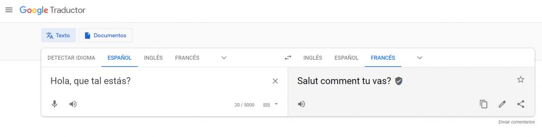 Traductor online gratuito Google Translate