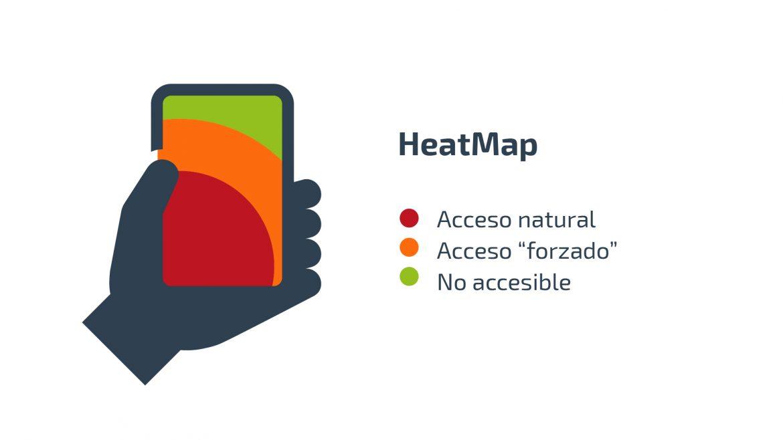 Mapa de calor en móvil