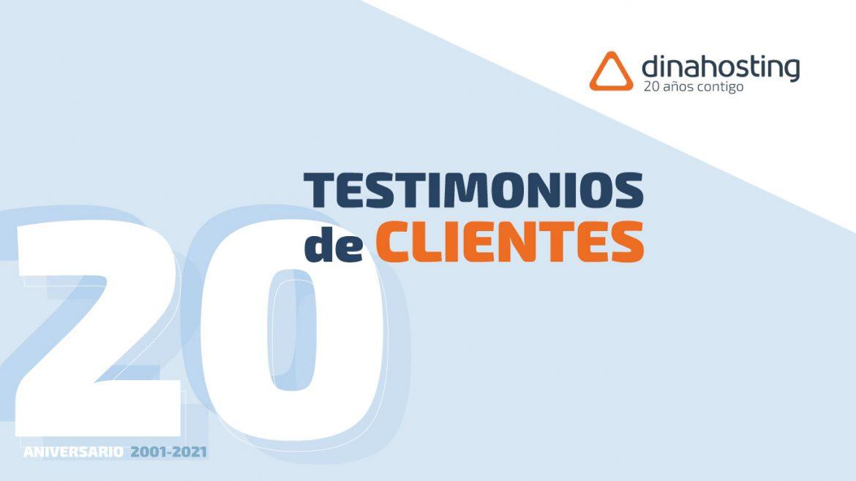 20 aniversario dinahosting - clientes