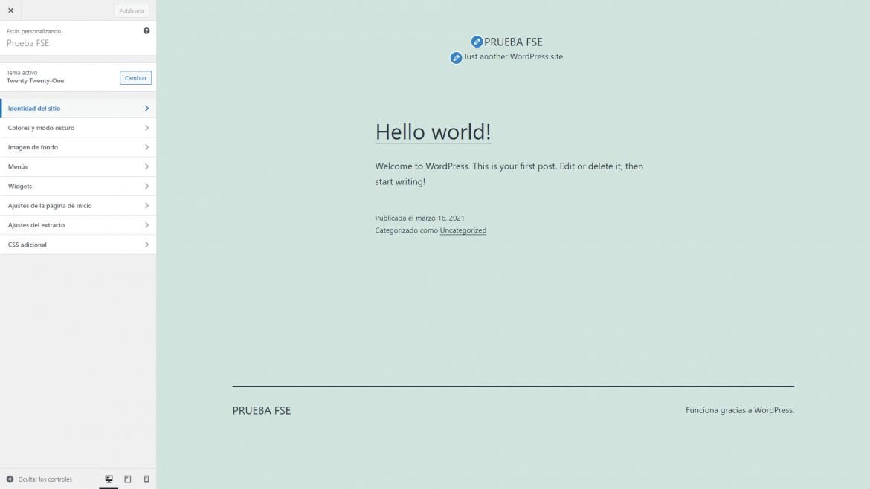 Personalizar el tema en WordPress