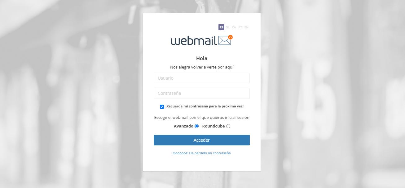 Login Webmail dinahosting