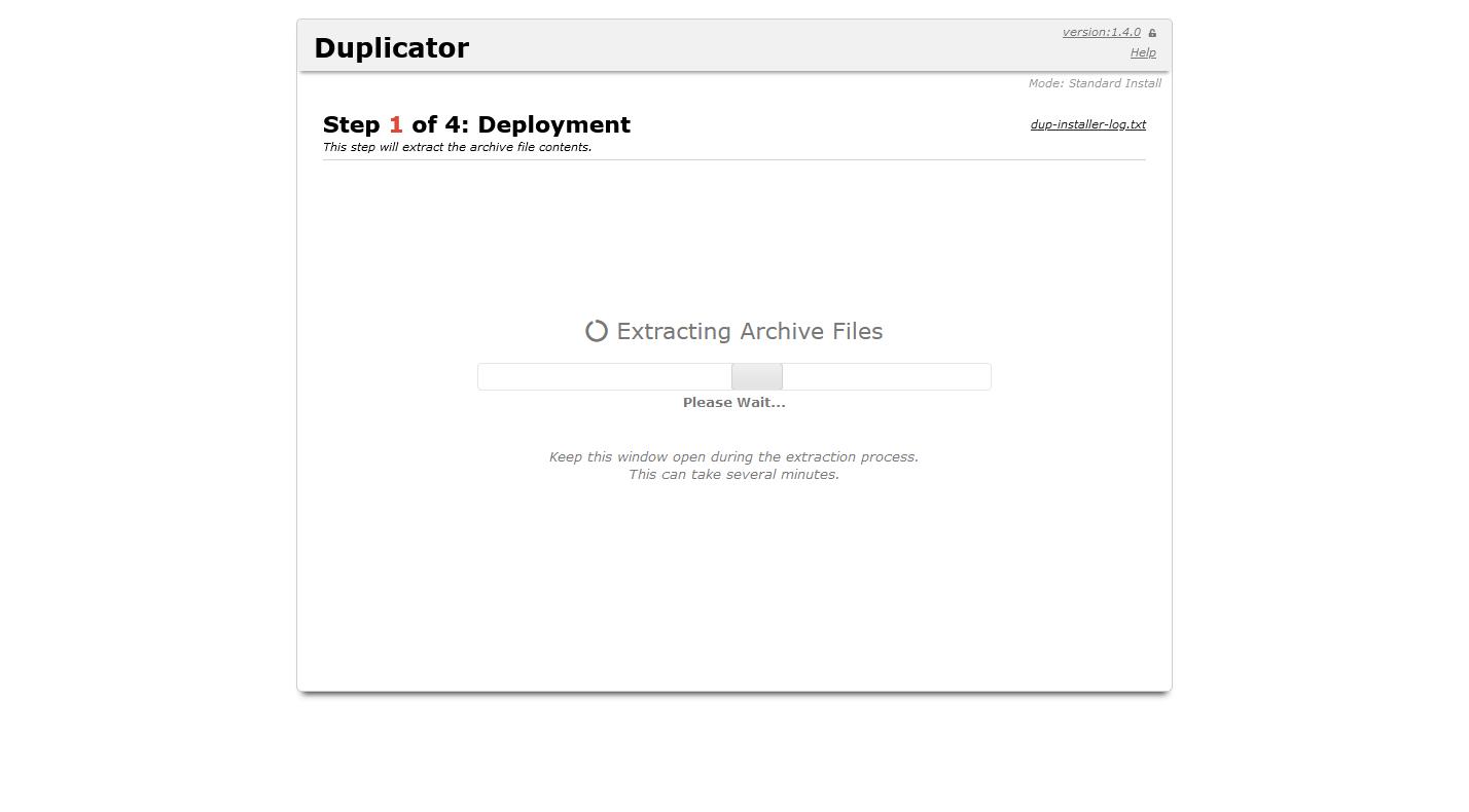 Configurar plugin Duplicator
