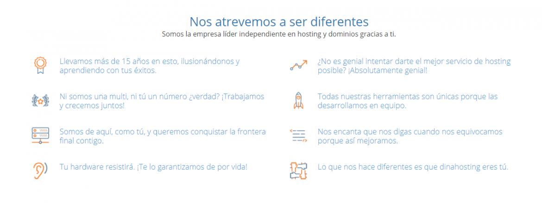Decálogo web dinahosting. Ejemplo de storytelling