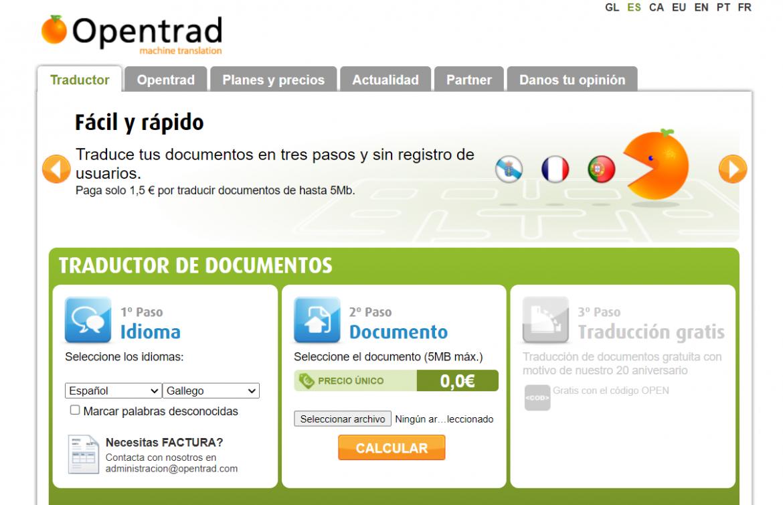 traductor Opentrad