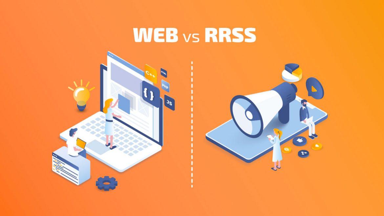 Comparativa Página web o Redes sociales