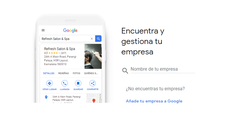 Buscar empresa en Google My Business