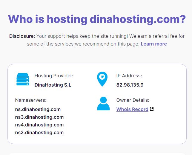 cómo saber el hosting de una web, who is hosting this