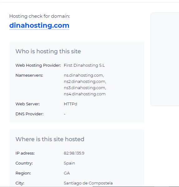 cómo saber el hosting de una web, sitechecker