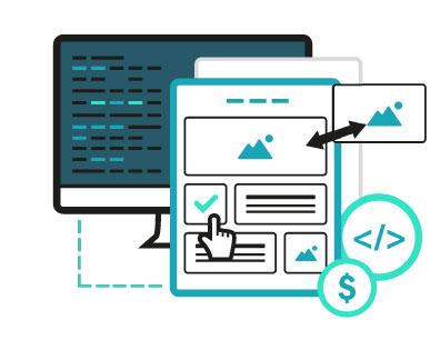 ilustración de web dinámica
